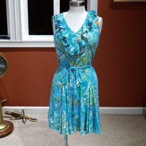Ralph Lauren blue print sundress